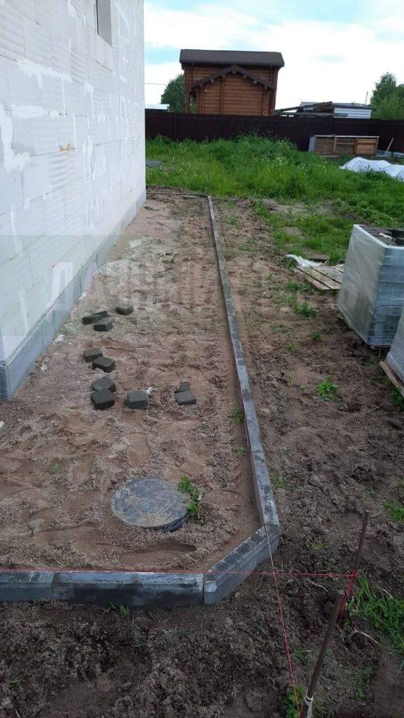 Монтаж бортового камня дони фото 2