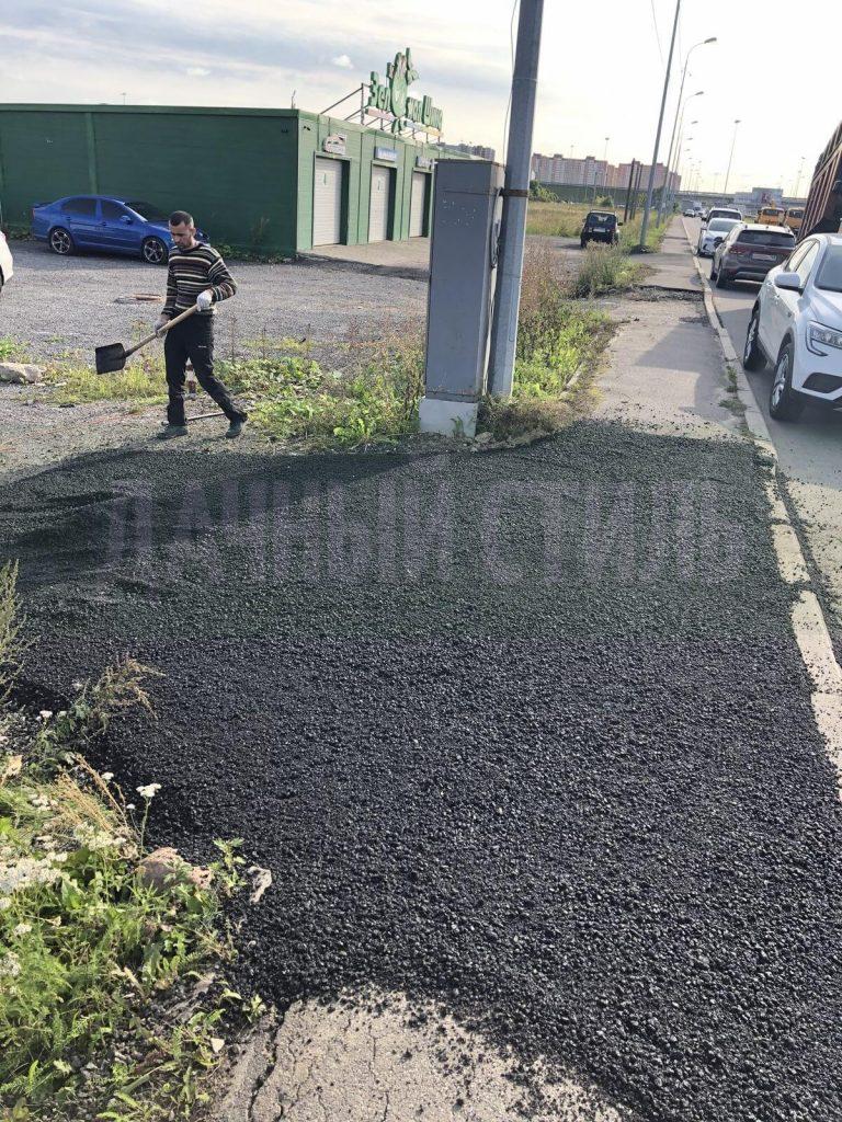 укладка асфальта таллинское шоссе фото 1