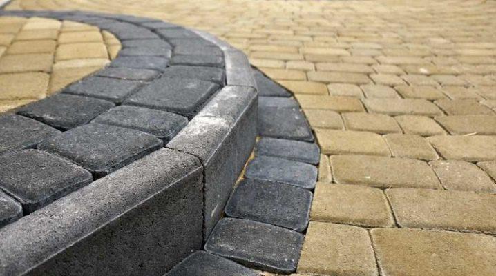 бордюрный камень для тротуарной плитки