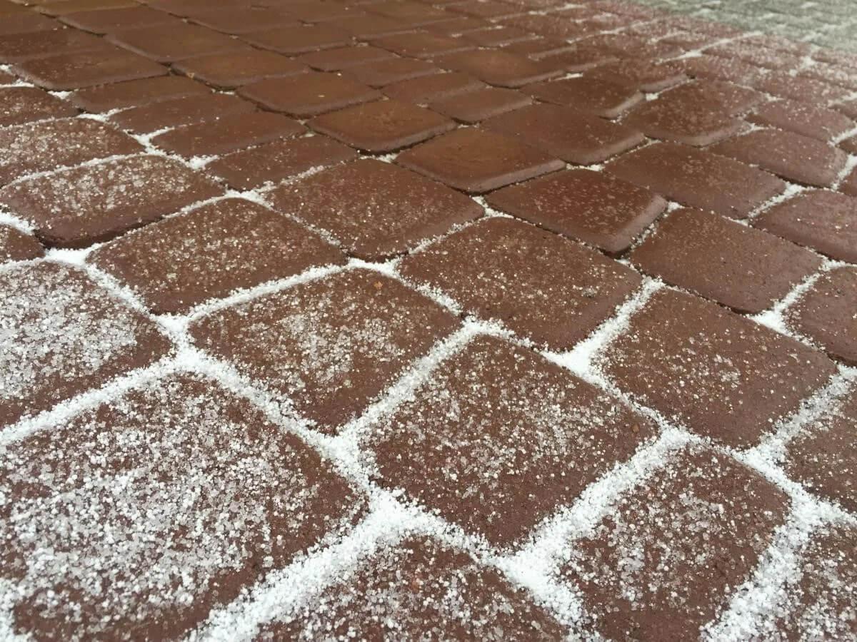 Укладка тротуарной плитки зимой icon