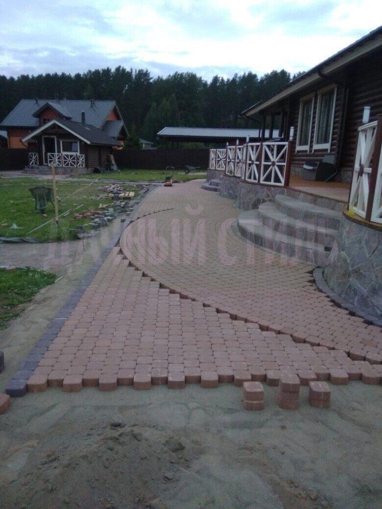 мощение плиткой пески фото 3
