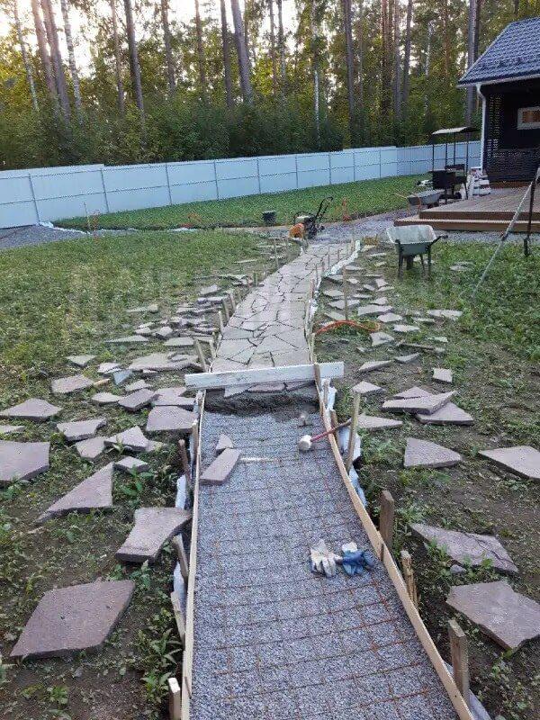 мощение природным камнем приозерье фото 4